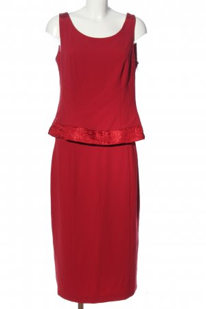 Vera Mont Woven Twin Set red elegant