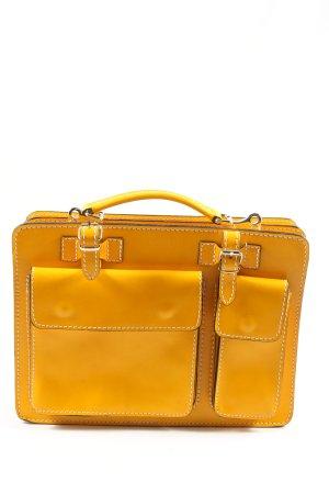 Vera Pelle Porte-documents jaune primevère style décontracté