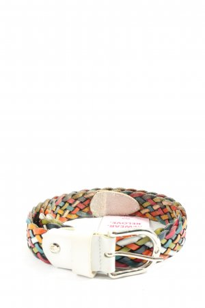 Vera Pelle Cintura intrecciata multicolore stile casual