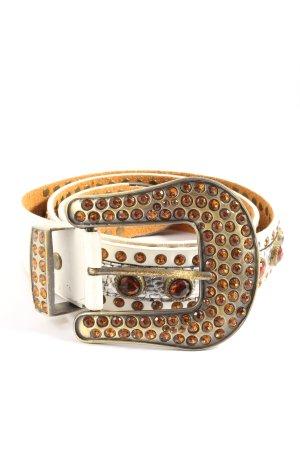 Vera Pelle Hebilla del cinturón blanco puro-naranja claro elegante