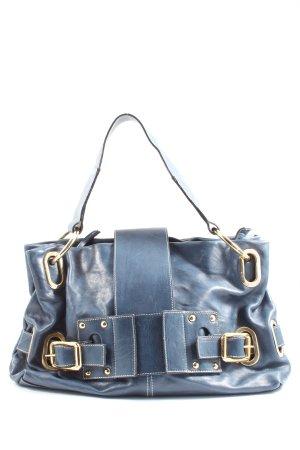 Vera Pelle Handtasche blau Casual-Look