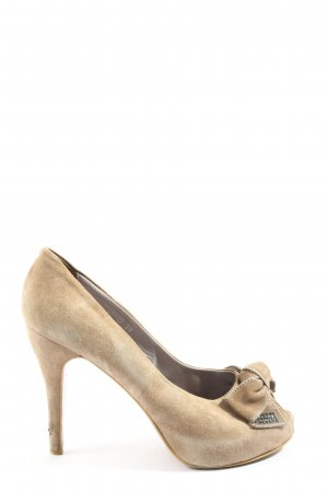 Vera Pelle High Heels creme Casual-Look