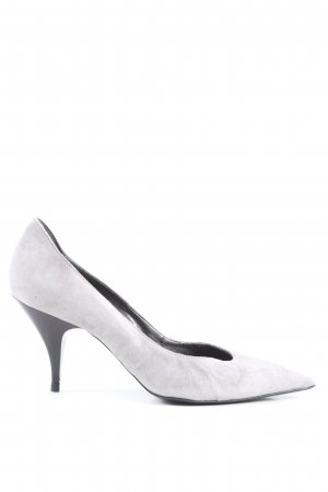 Vera Pelle Klassische Pumps hellgrau Business-Look