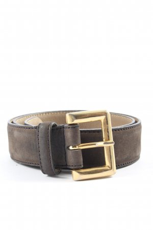 Vera Pelle Faux Leather Belt brown-gold-colored casual look