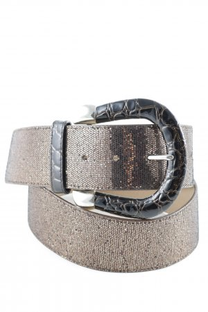 Vera Pelle Faux Leather Belt brown-dark brown glittery