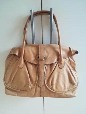Vera Pelle Ledertasche Bag beige camel Luxus Designer Made in Florence