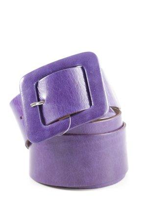 Vera Pelle Cinturón pélvico lila look casual