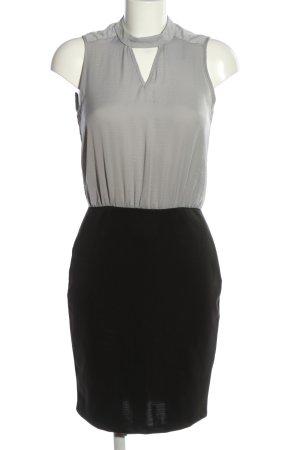 vera ravenna Vestido de cuello Halter negro-gris claro estilo «business»