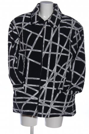 Vercotti Quilted Jacket black-white allover print casual look