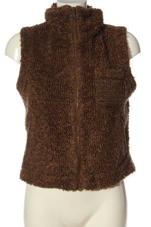 verdict Kamizelka ze sztucznym futrem brązowy W stylu casual