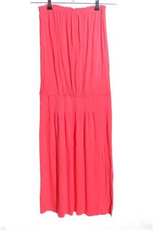 Verdissima Robe bandeau rose style décontracté