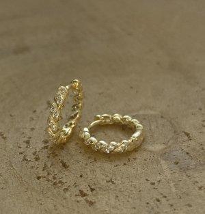 Silber Pendientes tipo aro color oro