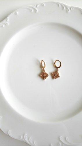 Gouden oorbellen zilver-goud