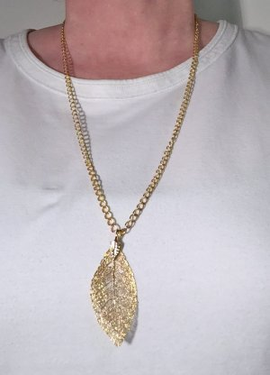 no name Łańcuch złoto Tkanina z mieszanych włókien
