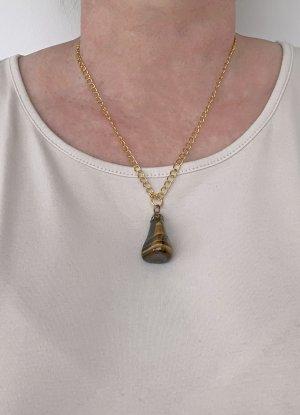 no name Łańcuch złoto-brązowy Tkanina z mieszanych włókien