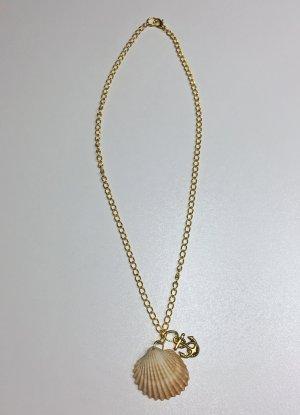 no name Collier de coquillages doré-beige métal