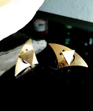 Vergoldete Ohrringe Ohrstecker, 1 Paar, 32mm