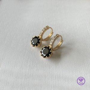 Viona Ear stud gold-colored-black