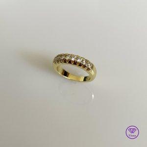 Viona Srebrny pierścionek biały-złoto