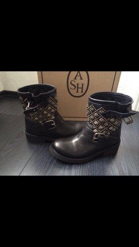 ASH Chaussures vert foncé cuir