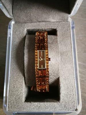 Verkaufe Bronze farbende Uhr von DKNY
