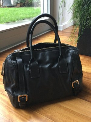 Coccinelle Bowling Bag black leather