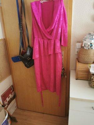 Peplum Dress raspberry-red