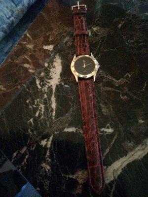 Quartz Horloge met lederen riempje bruin