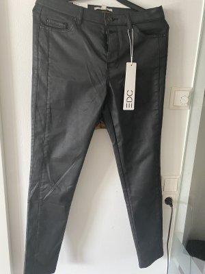 Verkaufe Esprit Jeans - beschichtete Hose - Lederlook neu