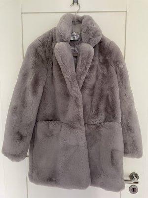 K.Zell Manteau de fourrure gris clair fourrure