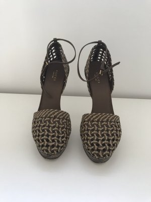Verkaufe Gucci-Plateau-Sandalen