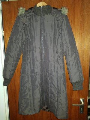 Cappotto con cappuccio marrone Poliestere