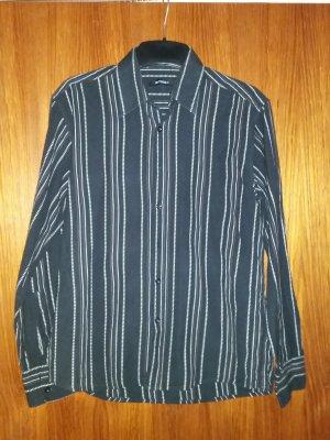 SMOG Camicia a maniche lunghe bianco-nero Cotone