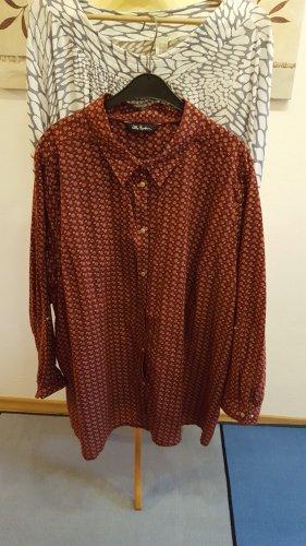 Ulla Popken Long Sleeve Blouse russet-brown red