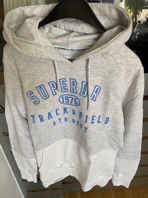 Verkaufe Hoodie von Superdry in grau/ weiß
