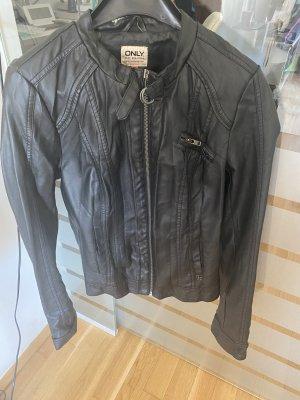 Verkaufe Lederjacke von Only - schwarz
