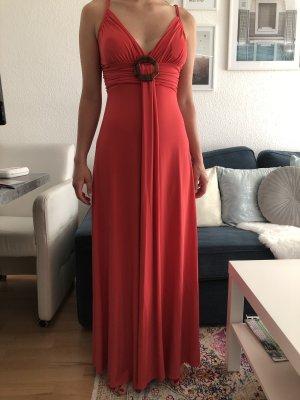 Verkaufe mein Abendkleid in Rot/Lachsrot