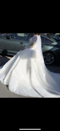 Abito da sposa bianco-bordeaux