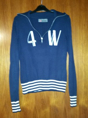 4Wards Sweater donkerblauw-wit