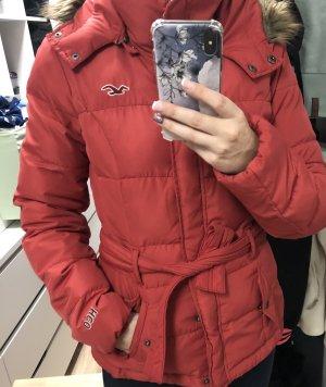 Hollister Kurtka zimowa czerwony