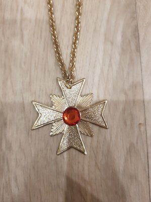 Statement ketting goud-donkerrood
