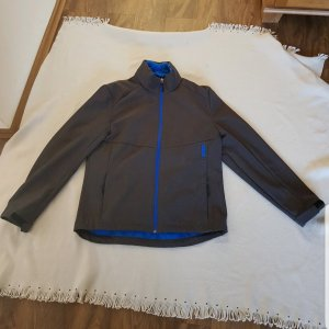 C&A Giacca softshell antracite-blu neon