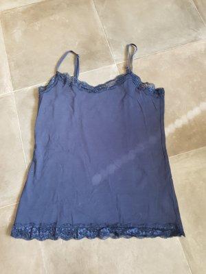 Lace Top dark blue