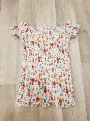 Verkaufe schönes Schulterfreies Shirt mit Blümchen Muster.