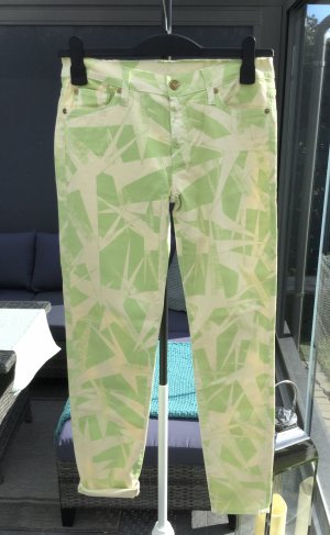 7 For All Mankind Jeans skinny beige clair-vert clair