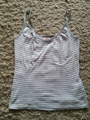 Verkaufe Top in weiß-grau gestreift Gr. S kaum getragen von TAKKO