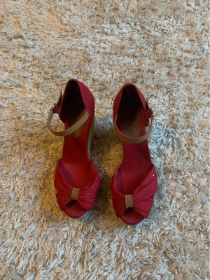 Tommy Hilfiger Wedge Sandals brick red
