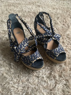 UGG Wedge Sandals dark blue