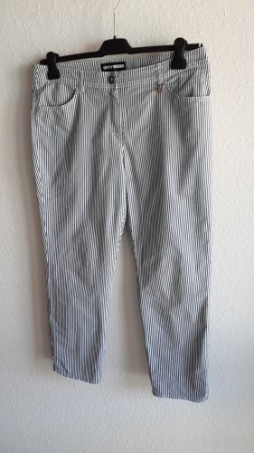 Gerry Weber 7/8 Length Trousers blue-white cotton