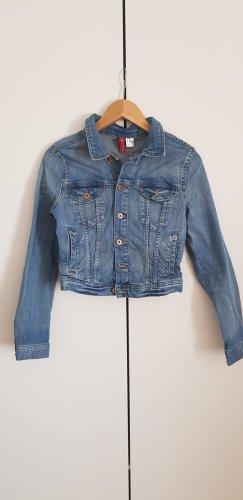 Verkürzte Jeans Jacke